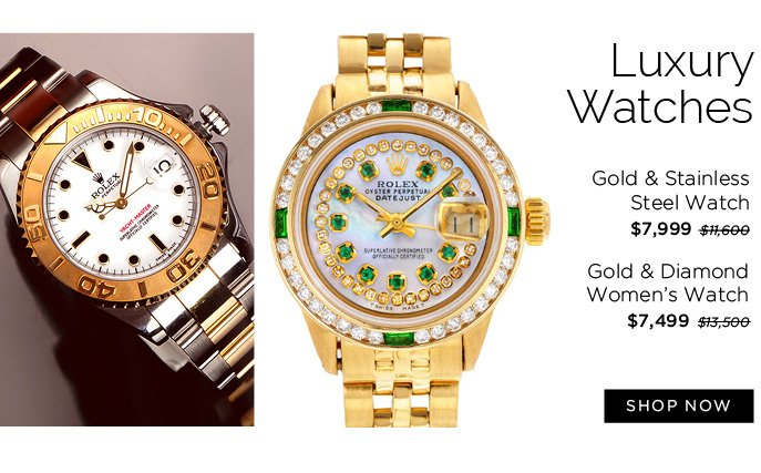 Luxury Watches. Shop Now