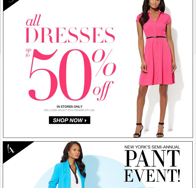 All Dresses Up to 50% Off!