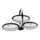 Anna G Folding cake stand in 18/10 stainless steel