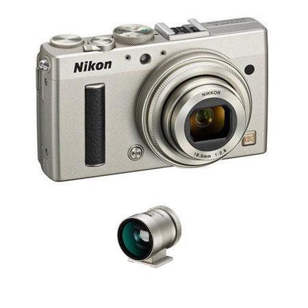 Adorama - Nikon Coolpix A Digital Camera - Bundle - with Nikon DF-CP1 Optical Viewfinder