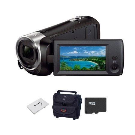 Adorama - Sony HDR-CX240 Full HD Handycam Camcorder, Black - Bundle