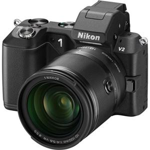 Adorama - Nikon 1 V2 Mirrorless Digital Camera with Nikon 1 10-100mm f/4-5.6 VR Zoom Lens, Black