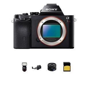 Adorama - Sony Alpha a7R Digital Camera - Bundle - with Sony Sonnar T* FE 35mm F2.8 ZA Lens, Sony HVL-F60M Wireless Flash, 32GB Class 10 SDHC Card, and Sony Genuine Leather Camera Case