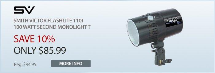 Adorama - Smith Victor Flashlite 110i, 100 Watt Second Monolight With 60 Watt Modeling Lamp