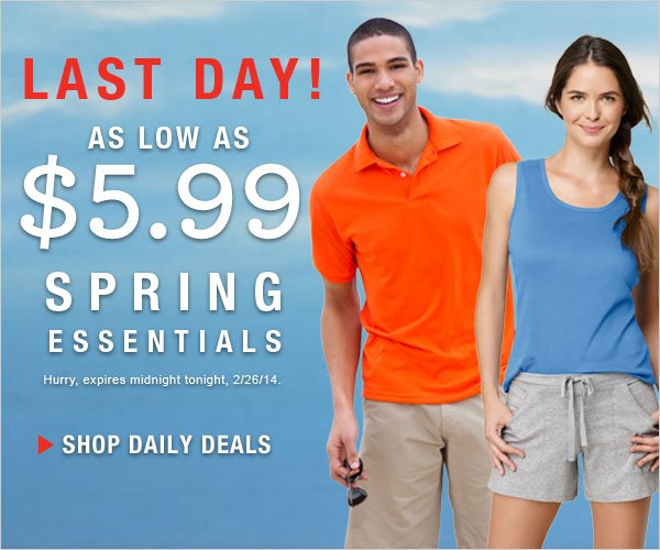 Last Day: Spring Essentials as low as $5.99