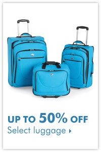 Up to 50% off select luggage.