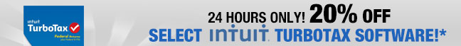 24 hours only! 20% off select Intuit TurboTax 2013 software
