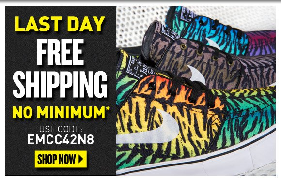 Last Day Free Shipping No Minumum*