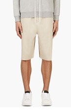 CY CHOI BEIGE Pleated Boundary.SHORTS for men