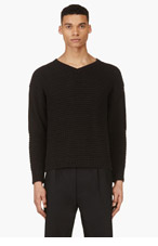 MARNI Black Cable Knit Sweater for men