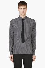 KRISVANASSCHE Black & White Trompe-L'Oeil Tie Shirt for men
