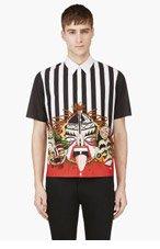 DSQUARED2 Black & White Tiki Mask Print Shirt for men