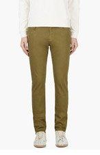 VERSUS Olive Skinny Jeans for men
