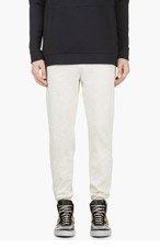 A.P.C. Heather Ivory Minimalist Lounge pants for men