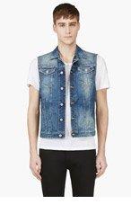 DSQUARED2 Blue Distressed Denim Vest for men