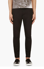 LANVIN Black Skinny Zip Cuff Trousers for men