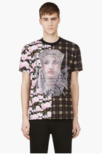 GIVENCHY Pink Peony & Plaid CONTRAST T-SHIRT for men