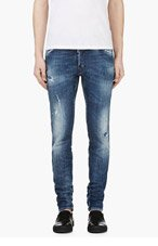 DSQUARED2 Blue RIPPED & faded COOL GUY JEANS for men