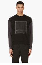 CY CHOI Black Crewneck Patch Feature Sweatshirt for men