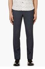 LANVIN Navy Slim Fit Trousers for men