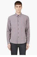 A.P.C. Red & grey Classic PLAID shirt for men