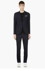 NEIL BARRETT Navy Wool Classic SKINNY SUIT for men