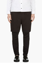 3.1 PHILLIP LIM BLACK Legging-layered SHORTS for men
