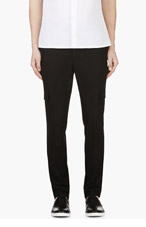 KRISVANASSCHE Black Cargo Trousers for men