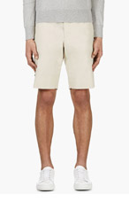 MONCLER GAMME BLEU Beige Poplin Shorts for men