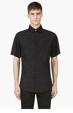 VERSUS Black Safety Pin Shirt for men
