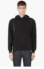 MCQ ALEXANDER MCQUEEN Black Pullover Zipper Hoodie for men