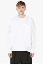 JUUN.J White Crewneck Oversize Shirt for men