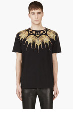 MARCELO BURLON COUNTY OF MILAN Black Pulpo T-Shirt for men