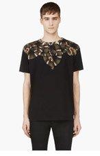 MARCELO BURLON COUNTY OF MILAN Black Moon Brown T-Shirt for men