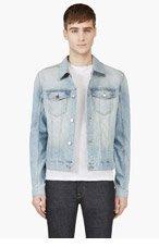 BLK DNM Light Blue Faded Denim Jacket for men