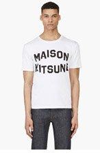 MAISON KITSUNE White Logo T-Shirt for men