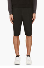 CY CHOI BLACK Pleated Minimal SHORTS for men