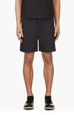 MARNI Navy Quilted Shorts for men