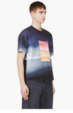 CALVIN KLEIN COLLECTION SSENSE EXCLUSIVE Navy Neoprene Sky Print T-Shirt for men