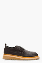 ANN DEMEULEMEESTER Grey Suede Boot Sole Shoes for men