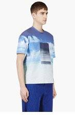 CALVIN KLEIN COLLECTION SSENSE EXCLUSIVE Blue Neoprene Sunny & Stormy print for men