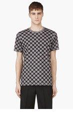 KRISVANASSCHE Black & Grey Polka Dot T-Shirt for men