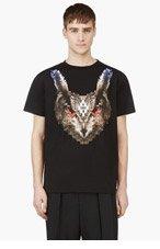 MARCELO BURLON COUNTY OF MILAN Black Lechuza T-Shirt for men