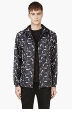 MARCELO BURLON COUNTY OF MILAN Black Python Print Jacket for men