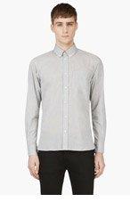 MAISON KITSUNE Grey Micro Herringbone Shirt for men