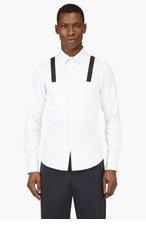 PYER MOSS White Grosgrain Trim Garcia Shirt for men