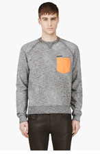 DSQUARED2 BLACK Contrast pocket Painter Sweatshirt for men