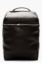 ALEXANDER WANG Black Pebbled Leather Wallie Backpack for men
