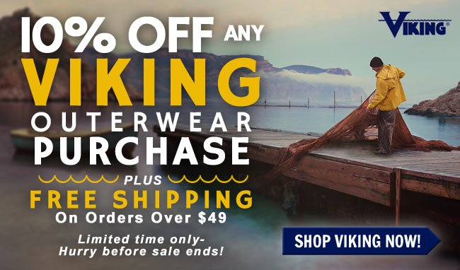 Get 10% OFF Viking Waterproof & High-Visibility Outerwear + FREE Shipping!