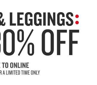 30% Off Leggings